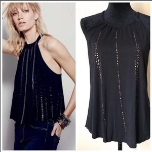 Maurices Black Studded Swing Tank Blouse